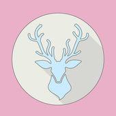 Deer head icon — Stok Vektör