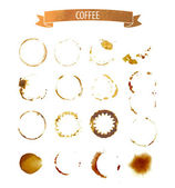Coffee stain circles — Stock Vector