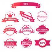 Wine  stamps — Stock Vector
