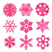 Watercolor snowflakes — Stock Vector