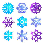 Watercolor snowflakes — Vector de stock