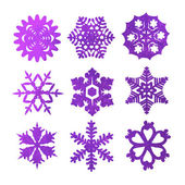Watercolor snowflakes — Vettoriale Stock