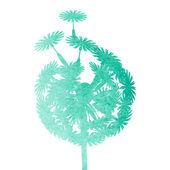 Watercolor dandelion — Stock Vector