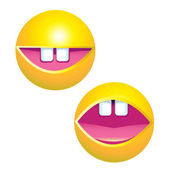 Yellow smiley faces — Stock Vector