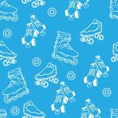 Roller skate pattern — Stock Vector