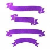 Watercolor ribbons — Stock Vector