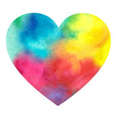 Watercolor painted heart — Stock Vector