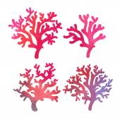 Watercolor coral — Stock Vector