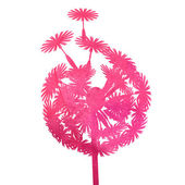 Watercolor pink dandelion — Wektor stockowy