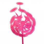 Watercolor pink dandelion — Stock vektor