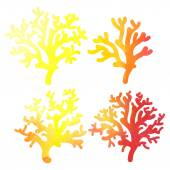Decorative watercolor coral — Stock Vector