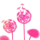 Watercolor dandelion background — Wektor stockowy