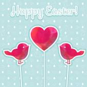 Easter watercolor background and seamless pattern — Stock vektor