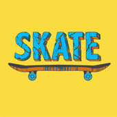 Skate board typography t-shirt graphics,sport,vector — Stock Vector