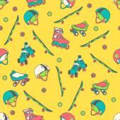 Roller skate seamless pattern — Stok Vektör