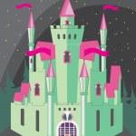 Magical fabulous cartoon castle — Stock Vector #71588223