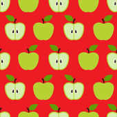 Seamless colorful retro apple pattern in vector — Stock Vector