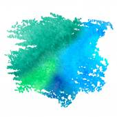 Colorful watercolor stain with aquarelle paint blotch — Stock Vector