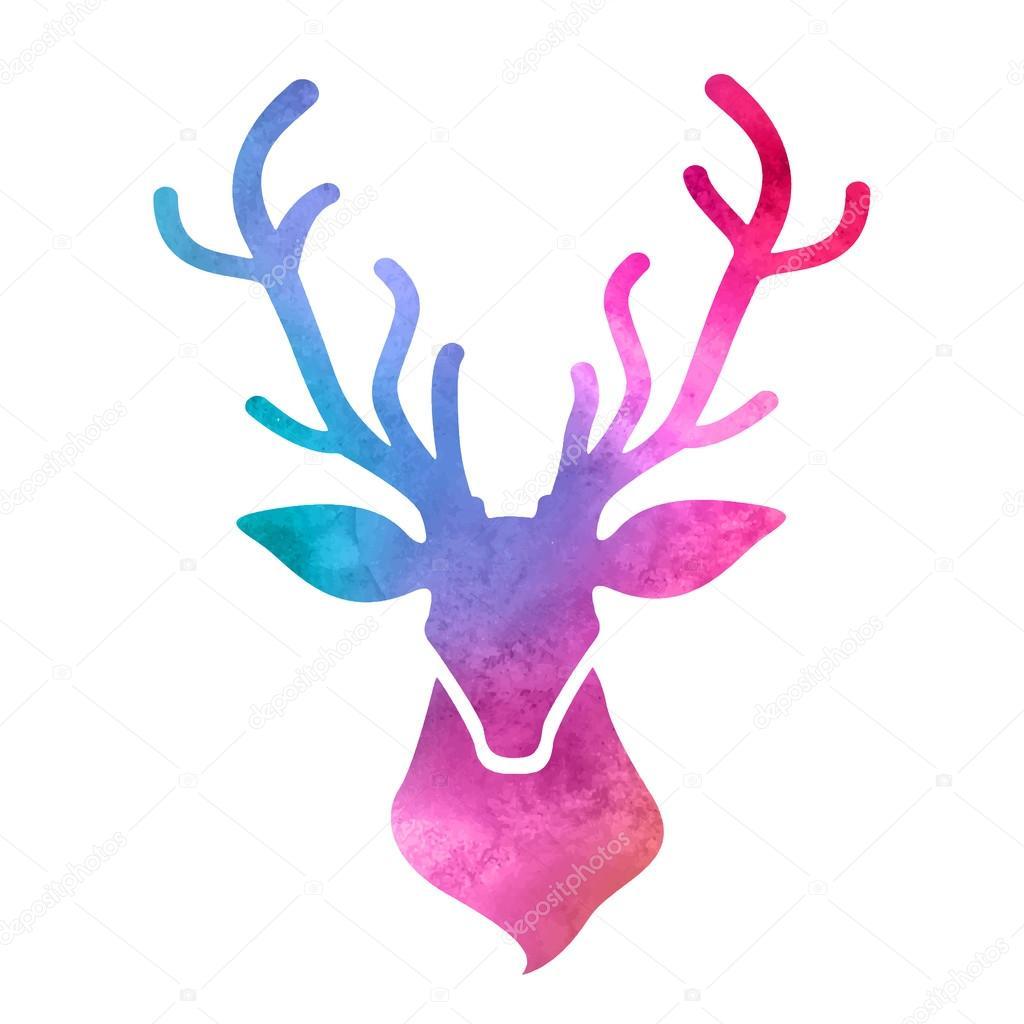 Cabeza de ciervo acuarela archivo im genes vectoriales for Cabeza de ciervo