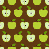 Colorful seamless retro apple pattern in vector — Stock Vector