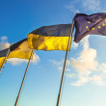 FLag Ukraine EU — Stock Photo #70729303