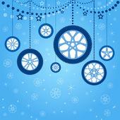 Christmas card with stylized Christmas balls — Stock Vector