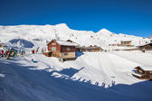 Winter of Kleine Scheidegg, time for skiing — Stock Photo