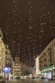 Star light on Bahnhofstrasse in Zurich at Christmas time — Stock Photo