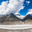 Panorama view of the Aletsch glacier on Mountains — Stock Photo #62946639