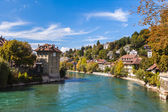 Berne old town and the Aare river — Stock Photo