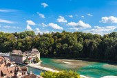 Aare river through Berne old town — Stock Photo