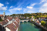 View of berne old town on the bridge — Stock Photo