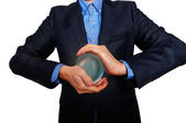 Businessman predict the future. business fortune telling. — Stock Photo