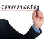 Businessman hand writing  communication  - Stock image — Stock fotografie