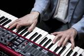 Hands of musician — Stock Photo