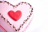 Top of heart shape cake close up — Stock Photo