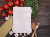 Recipe Notepad — Стоковое фото