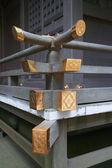 Japanese style handrail image — Stock Photo