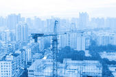 Underconstructing building in Guangzhou urban area — Stock Photo