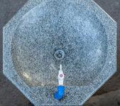 Stone washbowl — Stock Photo
