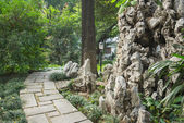 Pathway in the Chinese style garden — Stock Photo