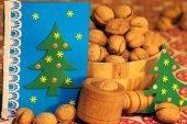 Christmas decorations. Christmas. Christmas Eve.Christmas greeting card. — Stock Photo