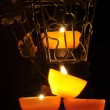 Lamp, candle shining in the darkness. Challis flame. Artistic composition. Lighting. — Stock Photo #61842193