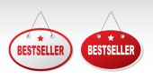 Bestseller Labels set — Wektor stockowy