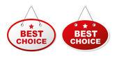 Best choise Labels set — Stock Vector