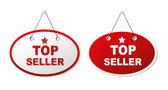 Top seller Labels set — Stock Vector