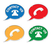 Contact us icons set — Stock Vector