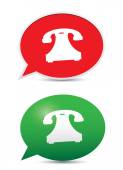 Glossy Telephone icons — Stock Vector