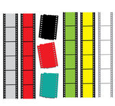 Videotapes or films set — Stock Vector