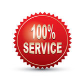 100 percents service Sign — Vetor de Stock